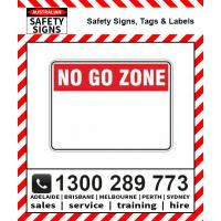 No Go Zone Signs