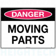 450x300mm - Poly - Danger Moving Parts (268LSP)