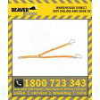 Beaver Elastic Twin Access Lanyard With Self Locking & Scaffold Hooks 2 Mtr Shock Absorbing Rest 1.5 Mtr (Bl07222)
