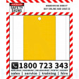 (PK10)(TAGPW) TAG BLANK YELLOW 100x150mm POLY