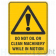 WARNING DO NOT OIL OR CLEAN 100x140mm Self Stick Vinyl (Pack of 5)