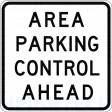 600x600mm - Class 2 - Aluminium - Area Parking Control Ahead (R5-64A)