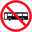 600x600mm - Class 1 - Aluminium - Buses Prohibited (R6-10-1A)