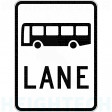1200x1600mm - Class 1 -Aluminium - Bus Lane (R7-1-1E)