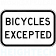 450x300mm - Class 1 - Aluminium - Bicycles Excepted (R9-3A)