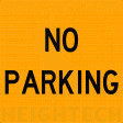 600x600mm - Class 1 - Metal Sign ONLY- No Parking (SG211)