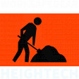 900x600mm - Metal - Class 1A Reflective - Symbolic Worker (SG516)