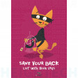 594x420mm - Laminated Safety Poster - Save Your Back, Lift with Your Legs (SP1030)