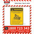 WARNING ENTERING OR EXITING FORKLIFT 100x140mm Self Stick Vinyl (Pack of 5)