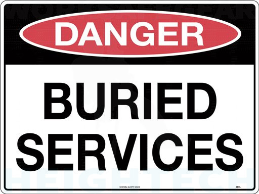 300x225mm - Metal - Danger Buried Services (260MM)