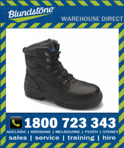 Blundstone Style 142 Black Premium Water Resistant Leather Safety Boot