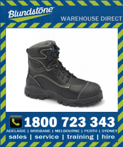 Blundstone Style 994 Black Quality Leather Ankle 150mm Xfoot Rubber Safety Boot