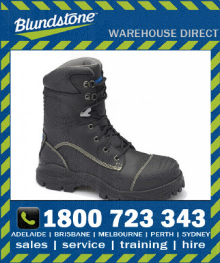 Blundstone Style 995 Black High Leg 185mm Xfoot Rubber Safety Boot