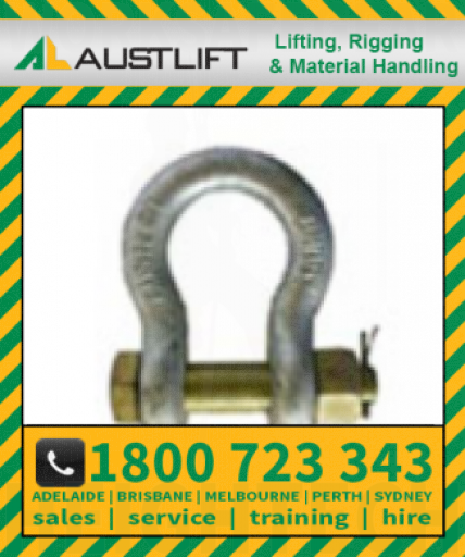 Grade S Safety Pin Bow Shackle 085T 76mm (503576)
