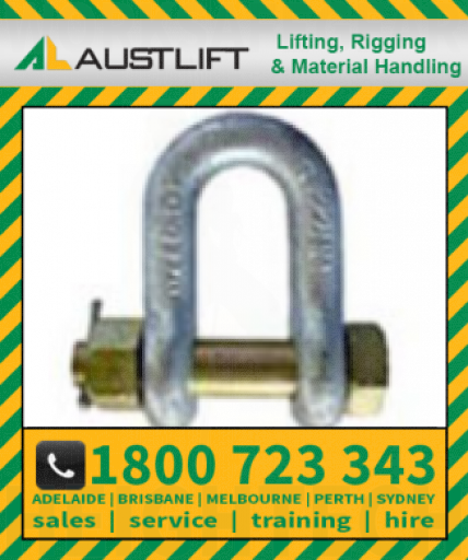 Grade S Safety Pin Dee Shackle 012T 32mm (504532)