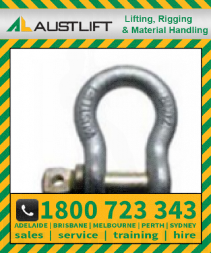 Grade S Screw Pin Bow Shackle 08.5T 25mm (503025)