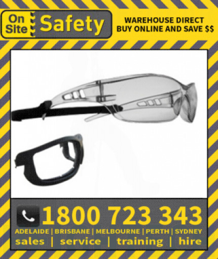 On Site Safety STEALTH Positive Seal Safety Glasses Eye Protection Specs