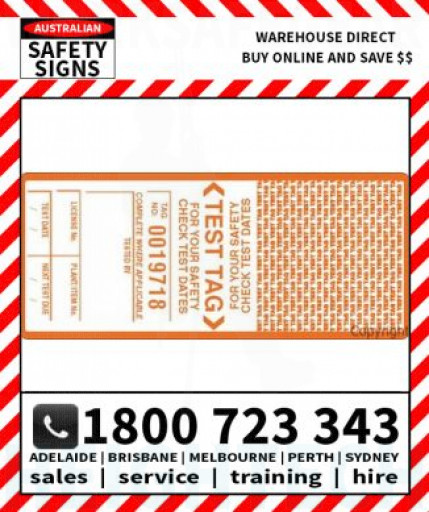(PK10)(TAGESLO) TAGS SELF LAMINATING - ORANGE 98X42mm SS VINYL