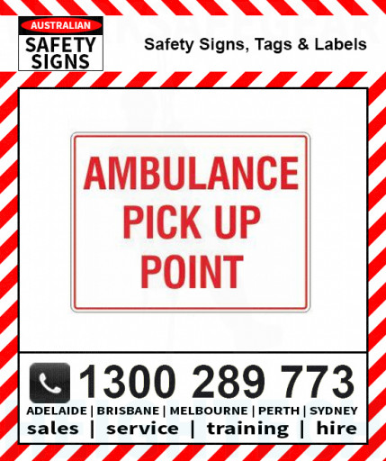 AMBULANCE PICK UP POINT 450x600mm Metal