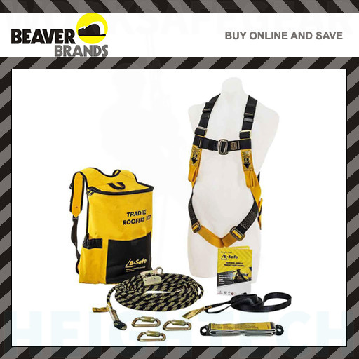 Beaver B Safe Roofers Kit Tradies harness & 15m rope system.