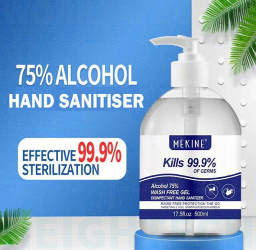 500ml ALCOHOL BASED HAND SANITIZER GEL ANTI-BACTERIAL KILLS 99.99% GERMS