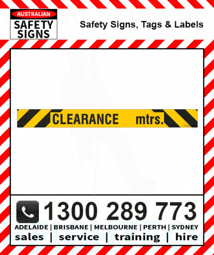 CLEARANCE SPECIFY HEIGHT MTRS 150X1500mm Metal