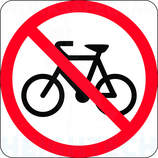 600x600mm - Class 1 Aluminium - Bicycles Prohibited (R6-10-3B)