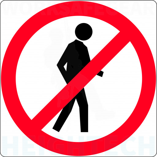 300x300mm - Class 1 - Aluminium - Pedestrians Prohibited (R6-15A)