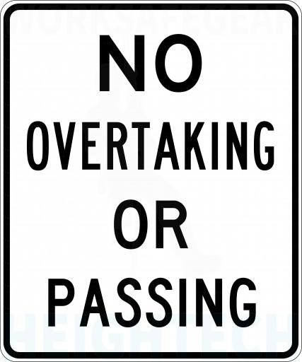 750x900mm - Class 1 - Aluminium - No Overtaking Or Passing (R6-1A)