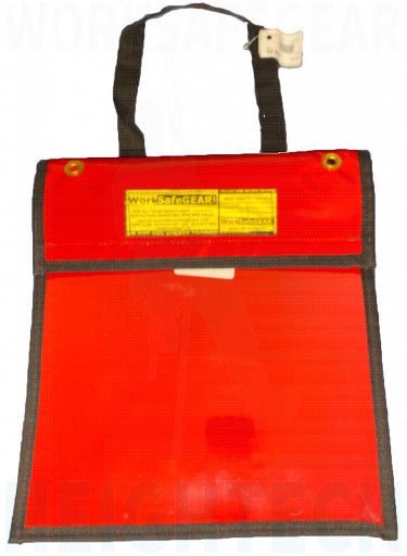 Red Document Pouch Storage Case Permit EWP Log Sheets Map Bag
