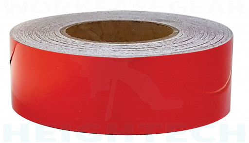 50mm x 45.7mtr - Class 2 Reflective Tape - Red (RT3R)