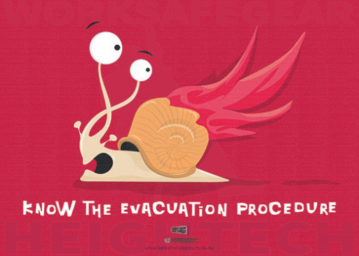 594x420mm - Laminated Safety Poster - Know the Evacuation Procedure (SP1021)
