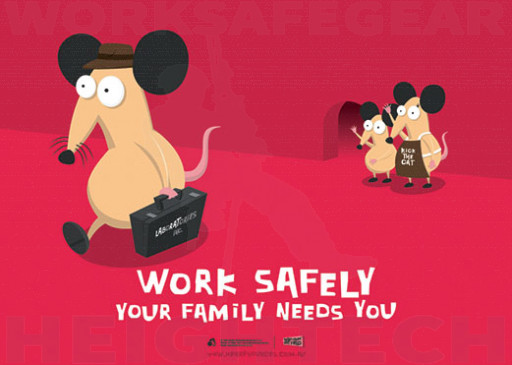 594x420mm - Laminated Safety Poster - Work Safely, Your Family Needs You (SP1022)