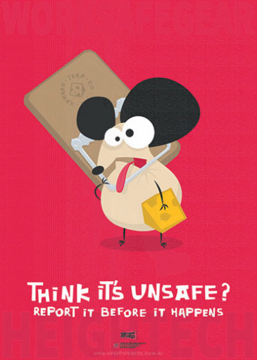 594x420mm - Laminated Safety Poster - Think it's Unsafe? Report it before it happens (SP1029)