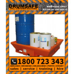 DRUMSAFE BUNDED PALLET Drumsafe Spill Prevention Secondary Containment