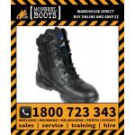Mongrel Black Black High Leg ZipSider Boot Work Boot Victor Footwear Shoe (951020)