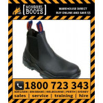 Mongrel Black Kip Elastic Sided Boot Safety Work Boot Victor Footwear Shoe (916020)