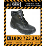 Mongrel Black Rambler Leather Lace-Up Boot Safety Work Boot Victor Footwear Shoe (260010)