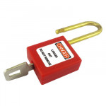 38mm shackle Red Safety Padlock inc 2 keys