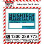 Polycarb 50mm x 30mm Inspection ID Label Plate (Pack of 10)