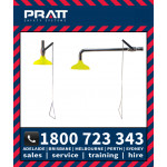 Pratt Safety Showers Ceiling or Wall Mounted