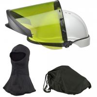 Elliotts ARCSAFE Elvex Arc Face Shield with Chinguard KIT 3 Visor Holder, Hard Hat, Eyewear, Balaclava & Kit Bag Flash Switching Electrical Welding Safety (FS20ARC10KIT3)