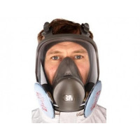 Large 3M P3 Full Face Respirator Mask 6900 + 2138 Filters