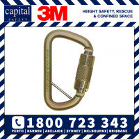 3M DBI-SALA Rollgliss Technical Rescue Offset D Fall Arrest Carabiner with Captive Eye 2000117 -16kN 20mm gate