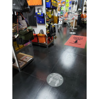 Keep Your Distance 1.5m Social & Physical Distancing Anti Slip Floor Sign 400mm Poly (5910FG)