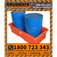 2 DRUM BUND (Spill DS 2DB) Drumsafe Spill Prevention Secondary Containment