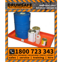 2 DRUM SPLASH TRAY Drumsafe Spill Prevention Secondary Containment