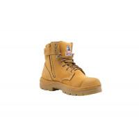 332152 WHEAT - Steel Blue Argyle Zip Bump Cap Steel Toe Cap Work Boots 1.jpg