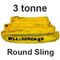 3 Tonne Round Slings (Yellow) 1m - 6m Lengths