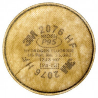 3M P2HF Particulate & Hydrogen Fluoride Disc Filter (2076),Respiratory Products.